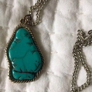 ✌️ Turquoise pendant necklace